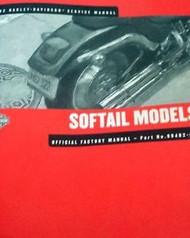 2002 Harley Davidson Softail Models Service Manual FACTORY BRAND NEW