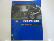 2002 Buell P3 Blast Model Parts Catalog Manual Factory OEM Book NEW