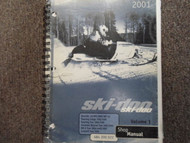 2001 Ski Doo Skandic Touring Formula MX Z Summit Service Repair Shop Manual x