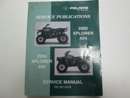 2000 Polaris XPLORER 400 4x4 Service Repair Shop Manual FACTORY OEM BOOK NEW