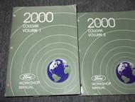 2000 MERCURY COUGAR Service Shop Repair Manual Set OEM 2 VOLUME HUGE
