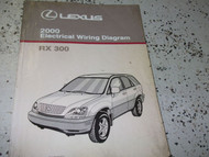 2000 Lexus RX300 RX 300 Electrical Wiring Diagram Service Shop Manual NEW EWD