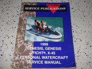 1999 Polaris WATERCRAFT GENESIS GENESIS FICHT X-45 Shop Repair Service Manual