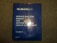 1998 Subaru Service Bulletin Helpline Update Supplement Service Shop Manual 98