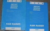 1988 Dodge Ram Raider Truck Service Repair Shop Workshop Manual SET W BODY Book