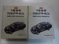 1995 KIA Sephia Service Repair Shop Manual 2 VOLUME SET MINOR WEAR FACTORY OEM