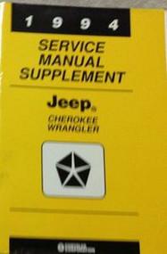 1994 Jeep CHEROKEE & WRANGLER Service Shop Repair Manual FACTORY SUPPLEMENT
