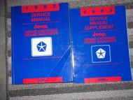 1993 Jeep Grand Cherokee Service Shop Repair Manual Set W SUPPLEMENT Book OEM