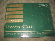 1993 FORD LINCOLN TOWN CAR Electrical Wiring Diagrams Service Shop Manual EVTM