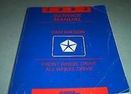 1993 DODGE RAM VAN WAGON Service Repair Manual SET OEM W DIAGNOSTICS BOOKS