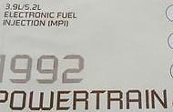 1992 92 DW150 Ramcharger 3.9L 3.9 L Powertrain Service Manual DIAGNOSTIC OEM