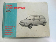 1991 FORD FESTIVA Electrical Wiring Diagrams Service Shop Repair Manual USED OEM