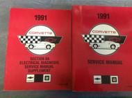 1991 Chevrolet Chevy CORVETTE Service Shop Repair Manual Set BRAND NEW W EWD