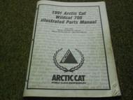 1991 Arctic Cat Wildcat 700 Illustrated Parts Catalog Manual FACTORY OEM x