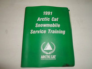 1991 Arctic Cat Snowmobile Service Training Manual BINDER FACTORY OEM BOOK 91