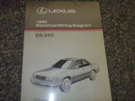 1990 Lexus ES250 ES 250 Electrical Wiring Diagram Service Shop Manual OEM EWD 90
