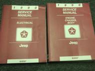1990 Jeep WRANGLER CHEROKEE COMANCHE Service Shop Repair Manual SET DEALERSHIP x