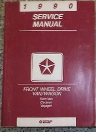 1990 Dodge Ram Van Wagon Caravan FWD Service Shop Repair Manual FACTORY OEM BOOK