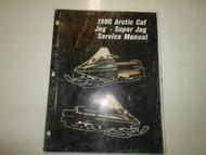 1990 Arctic Cat Jag Super Jag Service Repair Manual FACTORY OEM BOOK 90 DAMAGED