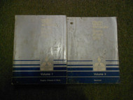1989 MITSUBISHI Van Wagon Service Repair Shop Manual SET 2 VOLUME FACTORY OEM x