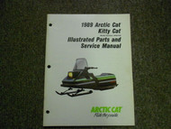 1989 ARCTIC CAT KITTY CAT Illustrated Service Parts Catalog Manual FACTORY OEM x