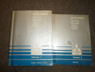 1989 1990 Mitsubishi Galant Service Repair Shop Manual 2 VOL SET WORN x 89 90