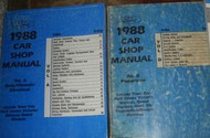1988 Mercury Grand Marquis Service Shop Manual SET W POWERTRAIN & BODY CHASSIS E