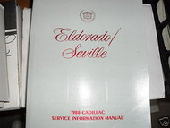 1988 GM Cadillac Eldorado Seville Service Shop Repair Manual OEM FACTORY
