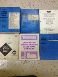 1988 Ford F-150 F250 F-250 350 Bronco Truck Service Shop Repair Manual Set 6 bks