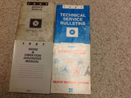 1987 Dodge RAMCHARGER TRUCK DW 150 250 350 Service Shop Repair Manual SET MOPAR