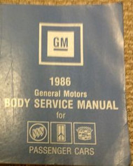 1986 GM CADILLAC BUICK CHEVY PONTIAC Fisher Body Service Shop Repair Manual GM