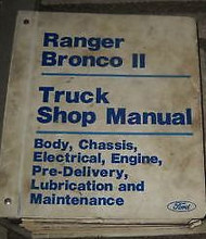 1986 Ford Ranger Bronco II Truck Service Shop Repair Workshop Manual BRAND NEW