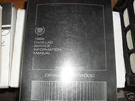1986 Cadillac DEVILLE FLEETWOOD Repair Service Shop Manual Final Edition FACTORY