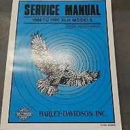 1986 1987 1988 1989 1990 Harley Davidson XLH Models Service Shop Manual BRAND NE