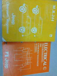 1985 JEEP CHEROKEE & WAGONEER Service Shop Repair Manual Set OEM W WIRING BOOK
