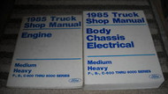 1985 Ford F&B 700 800 900 Medium & Heavy Truck Service Shop Repair Manual Set