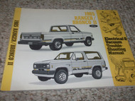 1985 FORD BRONCO II TRUCK Electrical Wiring Diagrams Service Shop Repair Manual