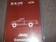 1985 1986 Jeep COMANCHE BODY BODYWORK Service Shop Repair Manual OEM 85 BOOK