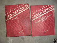 1984 Chrysler Conquest Service Repair Shop Manual Set W SUPPLEMENT BOOK OEM