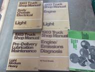 1983 Ford F-150 F100 250 350 Bronco Truck Service Shop Repair Manual Set OEM X
