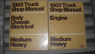 1983 FORD F&B 700 800 900 Truck Service Shop Repair Workshop Manual Set OEM