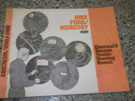 1982 MERCURY GRAND MARQUIS Wiring Electrical TROUBLESHOOTING Shop Repair Manual