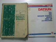 1982 Datsun Nissan Stanza Service Repair Shop Manual SET FACTORY OEM USED WEAR