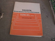 1982 1983 1984 Toyota Tercel 4WD Repair Service Manual for Collision Damage OEM