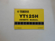 1981 Yamaha YT125H Owners Manual FACTORY OEM BOOK 81 WATER DAMAGED