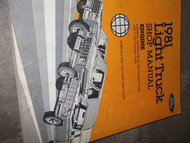 1981 Ford F100 F-150 F250 F300 BRONCO ECONOLINE Repair Shop Service Manual ENGIN