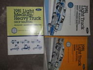 1981 Ford F-150 350 Bronco Truck Service Shop Repair Manual Set FACTORY BOOK OEM