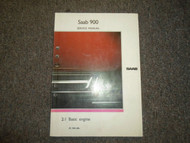 1981 83 87 1988 Saab 2:1 Basic Engine Service Repair Shop Manual FACTORY OEM 88