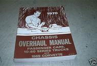 1969 1970 Chevrolet Corvette Camaro Nova Chassis Overhaul Service Shop Manual