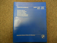 1980s 90s 00s BMW 1500 1600 1800 2000 Workshop Service Repair Manual FACTORY